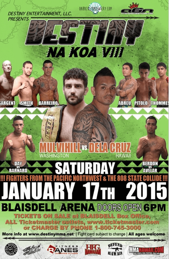 Na Koa 8 Fight Poster MMA