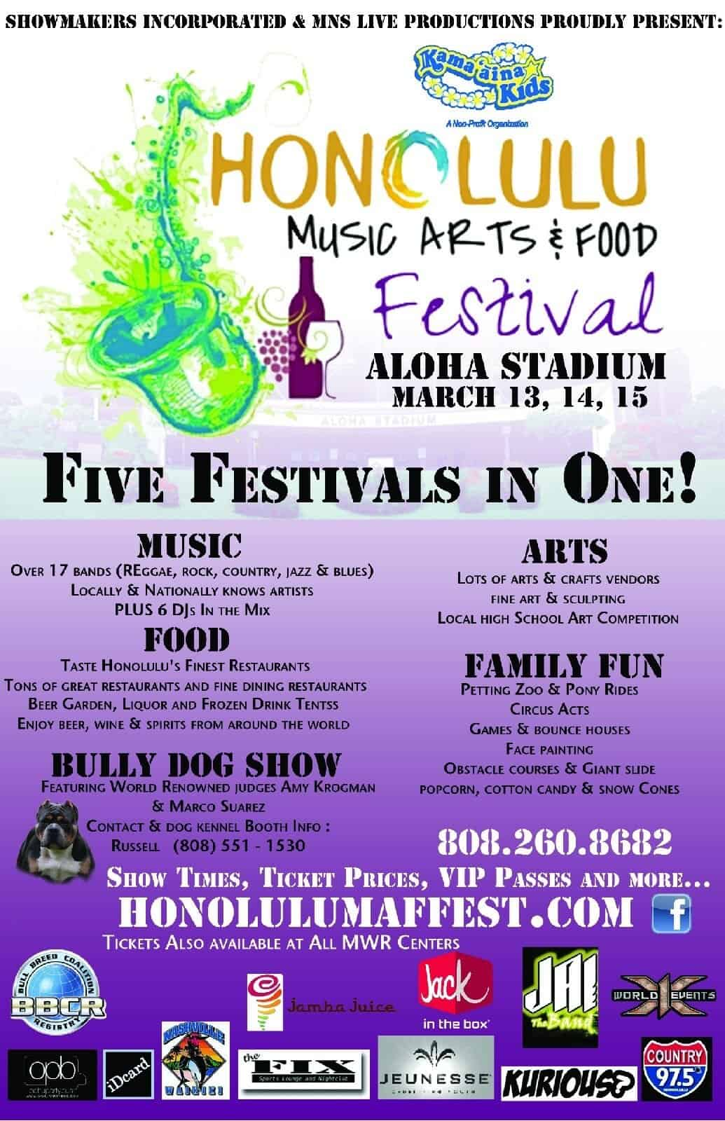 Honolulu Music Arts and Food
