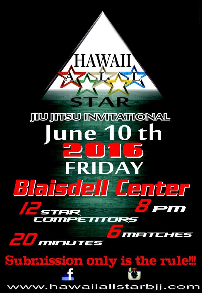 Poster for Martial arts competition in hawaii