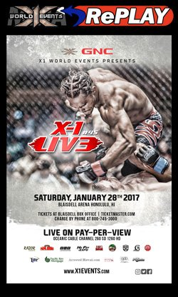 X1 MMA Fight Live and on demand
