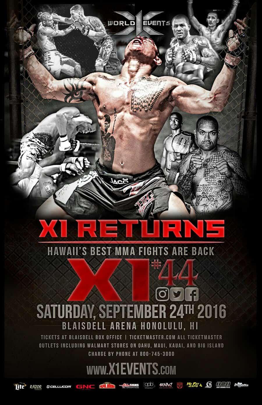 Pro MMA Returns to the Blaisdell Arena