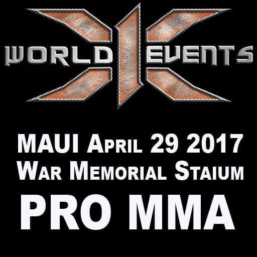 X1 World Events Returns to Maui with Pro MMA at the war memorial Stadium