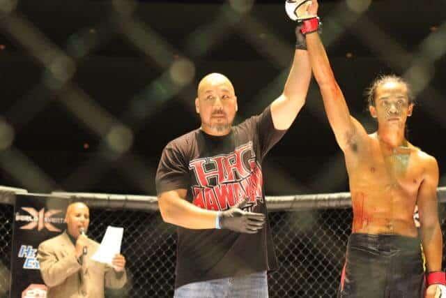Joe Manuia defeated Devin Yamada via doctor stoppage (cut over eye)