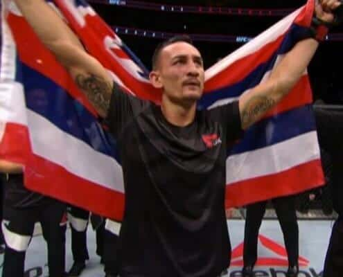 UFC Max Holloway with Victory