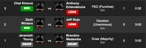 X1 50 Day 1 Fight results