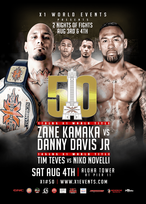 X1#50 - 2 Nights of Fights - Day 2 August 4 2018 Fight Results