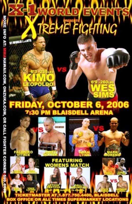 "X1 #5 ""Xtreme Fighting 1"" Oct 06, 2006 Honolulu, Hawaii"