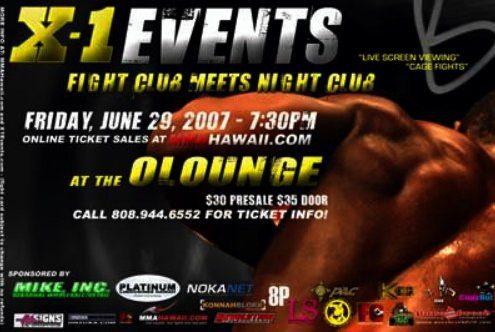 """X1 #8 """"Fight Club Meets Night Club 2"""" Jun 29, 2007"""