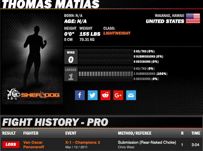 Thomas Matias sherdog