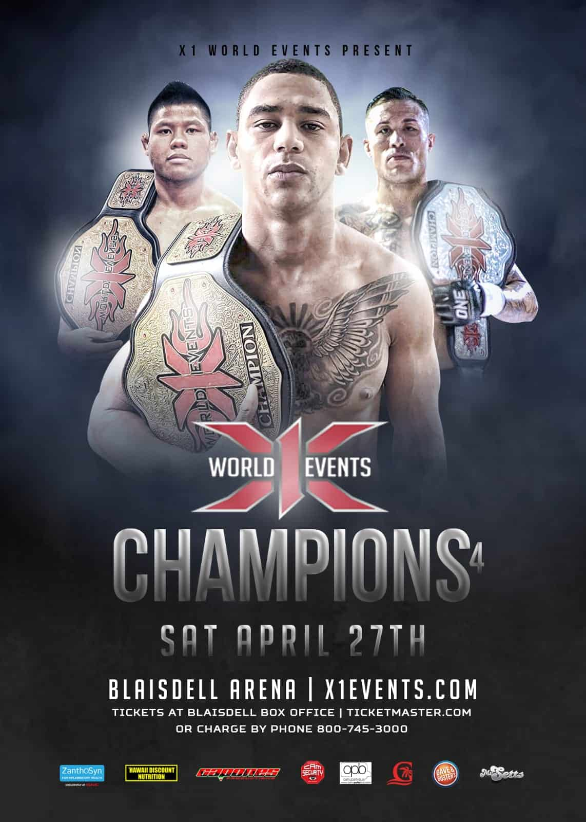 X1#54: Champions 4 April 27 2019 Fight Results