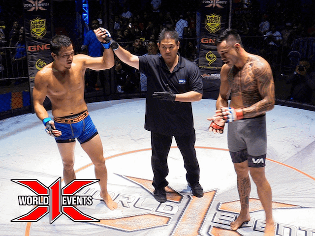 Dustin Ching from Oahu defeats Daylan Cummings from Kauai