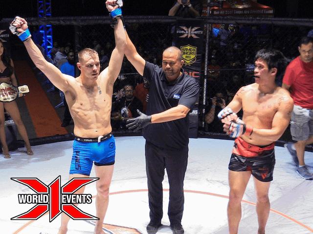 Adam Fugitt from Oregon defeats Reno Remigio from Oahu