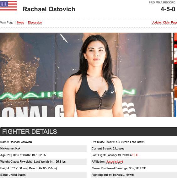 Rachael Ostovich Hawaii MMA