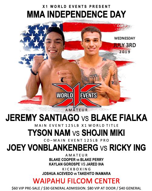 X1 55 - Jeremy Santiago vs Blake Fialka