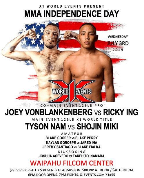 x1 - 55 Joey Vonblankenberg vs Ricky Ing