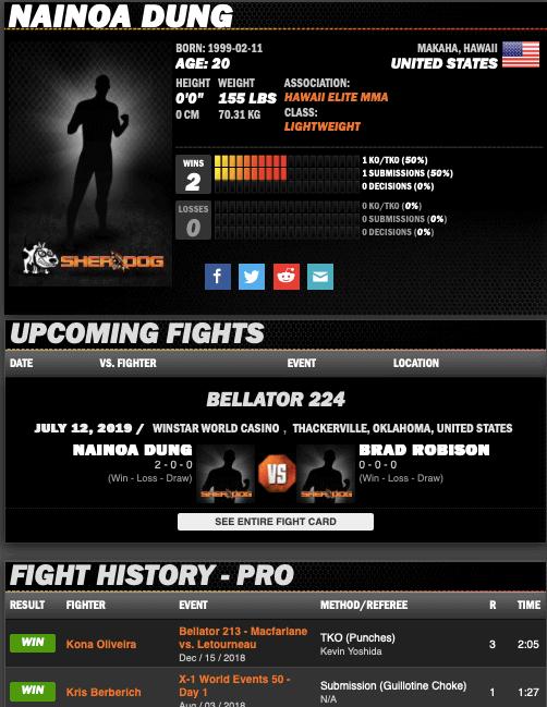 X1 MMA Fighter - Nainoa Dung