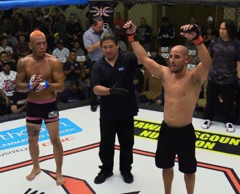 Joshua Garcia defeated Scott Higashi via decision