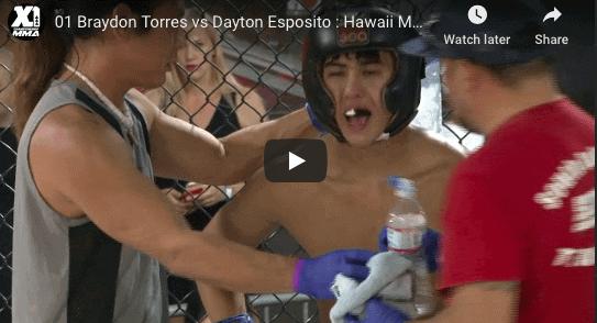 01 Braydon Torres vs Dayton Esposito : Hawaii MMA