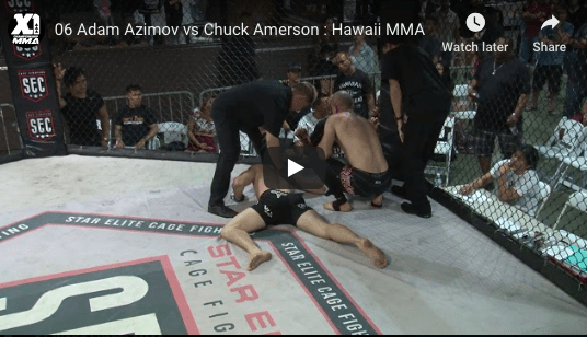 06 Adam Azimov vs Chuck Amerson : Hawaii MMA