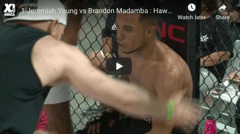1 Jeremiah Young vs Brandon Madamba : Hawaii MMA