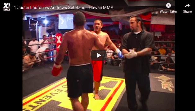 1 Justin Laufou vs Andrews Setefano : Hawaii MMA