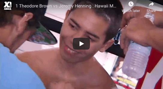 1 Theodore Brown vs Jeremy Henning : Hawaii MMA