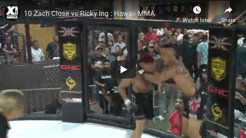 10 Zach Close vs Ricky Ing : Hawaii MMA
