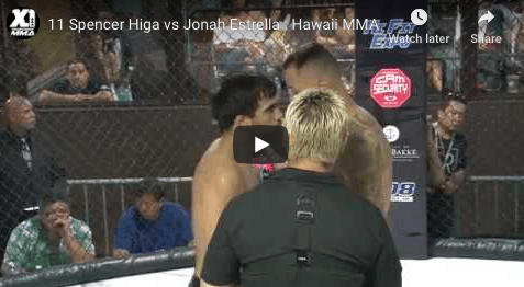 11 Spencer Higa vs Jonah Estrella : Hawaii MMA
