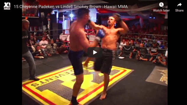 15 Cheyenne Padeken vs Lindell Smokey Brown : Hawaii MMA