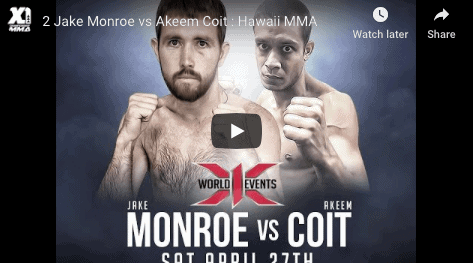 2 Jake Monroe vs Akeem Coit : Hawaii MMA