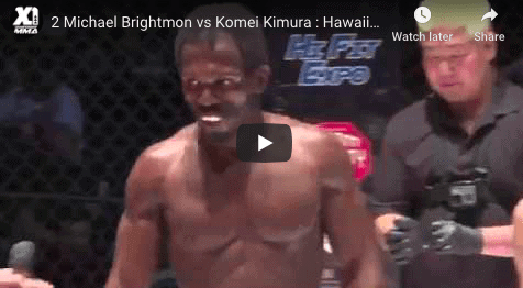 2 Michael Brightmon vs Komei Kimura : Hawaii MMA