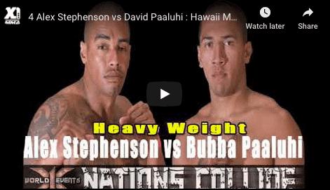 4 Alex Stephenson vs David Paaluhi : Hawaii MMA