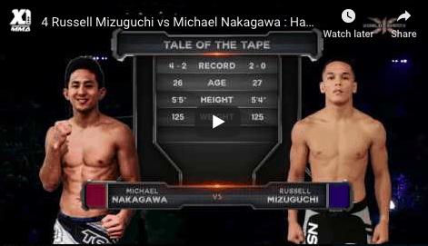 4 Russell Mizuguchi vs Michael Nakagawa : Hawaii MMA
