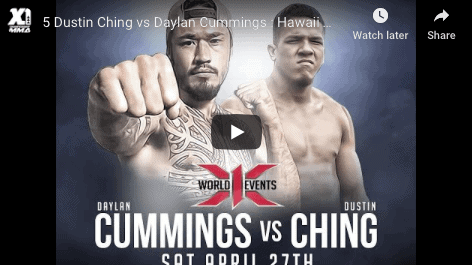 5 Dustin Ching vs Daylan Cummings : Hawaii MMA