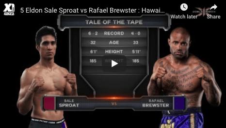 5 Eldon Sale Sproat vs Rafael Brewster : Hawaii MMA