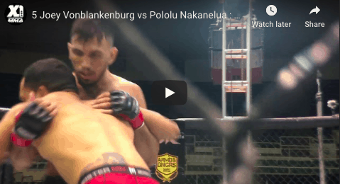 5 Joey Vonblankenburg vs Pololu Nakanelua : Hawaii MMA