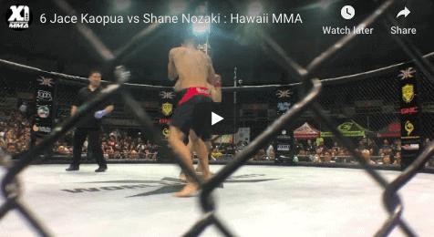 6 Jace Kaopua vs Shane Nozaki : Hawaii MMA