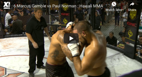 6 Marcus Gamble vs Paul Norman : Hawaii MMA