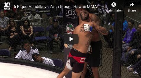 6 Riquo Abadilla vs Zach Close : Hawaii MMA