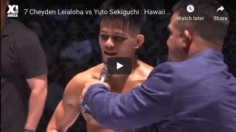 7 Cheyden Leialoha vs Yuto Sekiguchi : Hawaii MMA