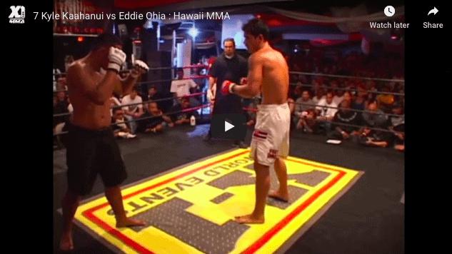 7 Kyle Kaahanui vs Eddie Ohia : Hawaii MMA