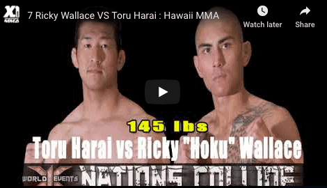7 Ricky Wallace VS Toru Harai : Hawaii MMA