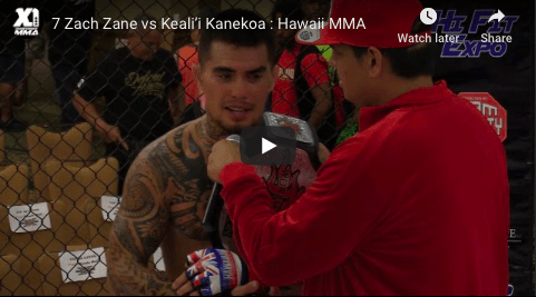 7 Zach Zane vs Keali'i Kanekoa Hawaii MMA