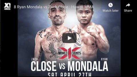 8 Ryan Mondala vs Zach Close : Hawaii MMA