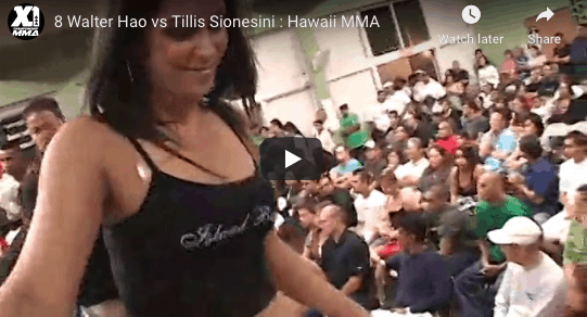 8 Walter Hao vs Tillis Sionesini : Hawaii MMA