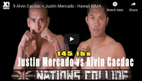 9 Alvin Cacdac v Justin Mercado : Hawaii MMA
