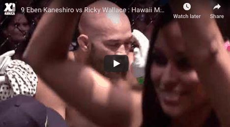 9 Eben Kaneshiro vs Ricky Wallace Hawaii MMA