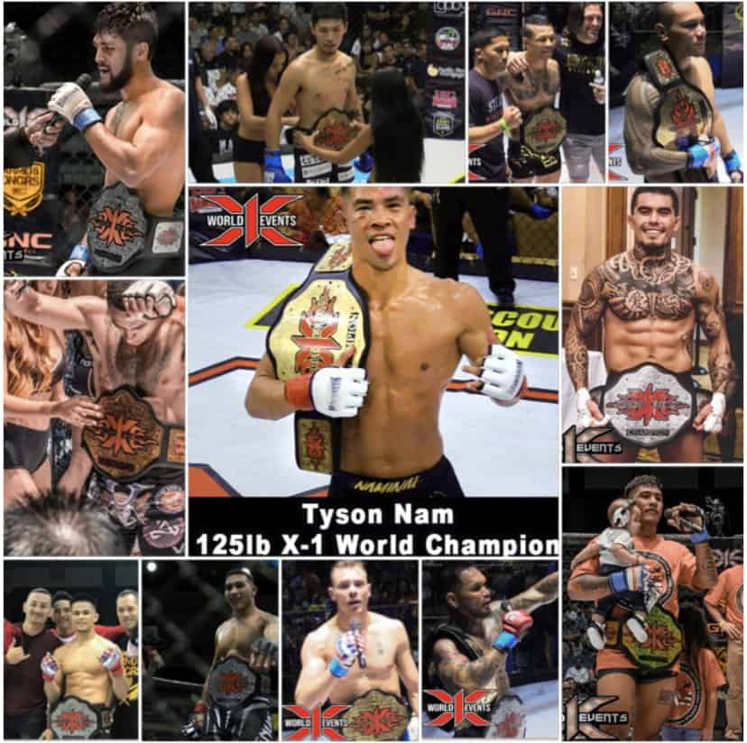 Current X1 World Events Champions MMA HAWAII