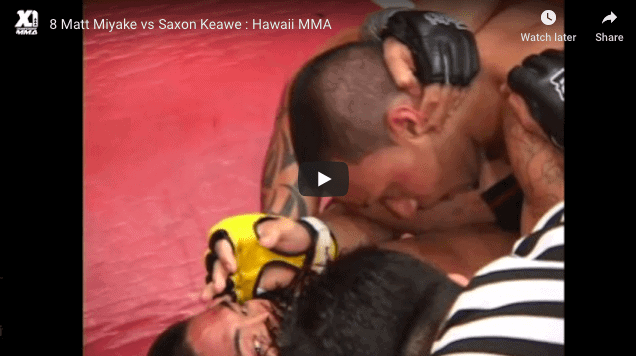 8 Matt Miyake vs Saxon Keawe : Hawaii MMA