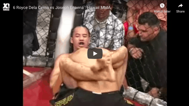 Royce Dela Cerna vs Joseph Enaena hawaii MMA
